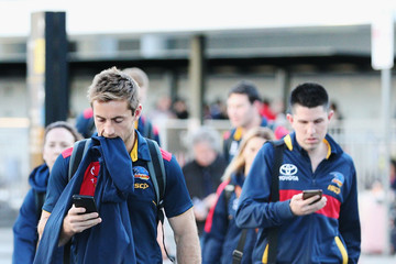 Richard Douglas Adelaide Crows Players Arrive at Melbourne Airport Ahead of the AFL Grand Final