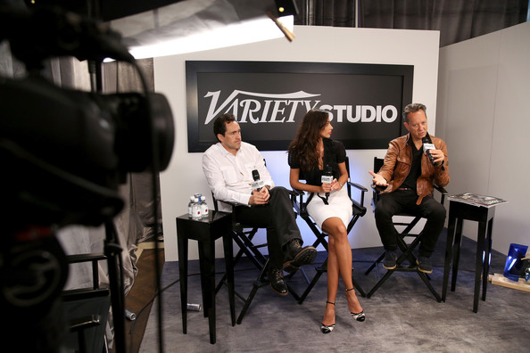 Celebs at Toronto's Variety Studio  [event,fashion,design,room,photography,competition event,team,celebs,demian bichir,madalina ghenea,richard e. grant,toronto,variety studio,canada,holt renfrew,moroccanoil,toronto international film festival]