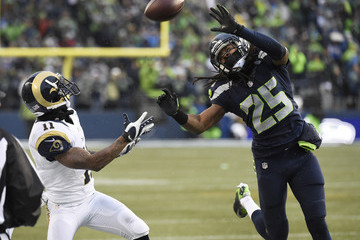 Richard Sherman Tavon Austin St Louis Rams v Seattle Seahawks