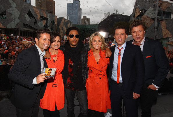 Lenny Kravitz Performs In Fed Square [lenny kravitz performs in fed square,event,premiere,lenny kravitz,lisa wilkinson,richard wilkins,georgie gardner,steven jacobs,karl stefanovic,show cast,american,show]