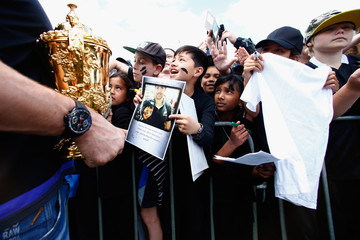 Richie Mccaw New Zealand All Blacks Welcome Home Celebrations