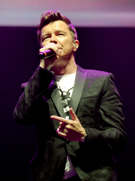 'We Are Manchester' Benefit Concert at Manchester Arena [performance,entertainment,music artist,singing,performing arts,microphone,music,event,singer,musician,rick astley,we are manchester benefit concert,manchester arena,england,manchester memorial fund,benefit concert,concert,terror attack]