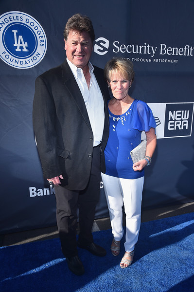 Fourth Annual Los Angeles Dodgers Foundation Blue Diamond Gala [event,premiere,carpet,suit,luxury vehicle,flooring,car,los angeles,california,dodger stadium,los angeles dodgers foundation blue diamond gala,rick honeycutt,debbie honeycutt]