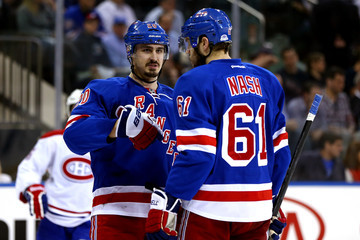 Rick Nash Chris Kreider Montreal Canadiens v New York Rangers - Game Four