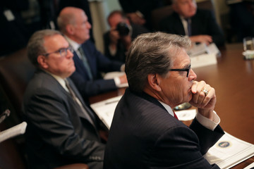 Rick Perry President Trump Hosts Cabinet Meeting At The White House