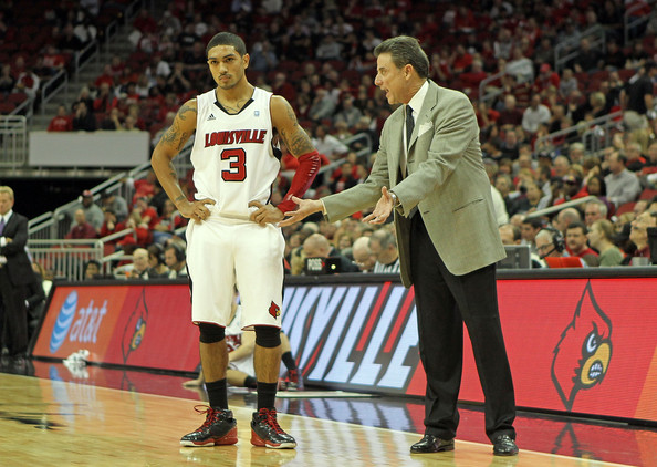 Rick Pitino and Peyton Siva - Kentucky Wesleyan v Louisville