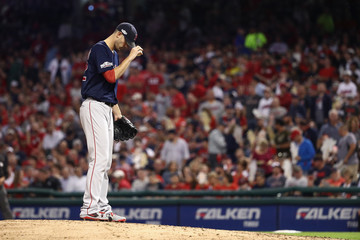 Rick Porcello Division Series - Boston Red Sox v Cleveland Indians - Game One