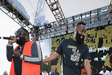 Rick Ross James Harden Returns To Audubon Middle School In Los Angeles For Imma Be A Star Block Party