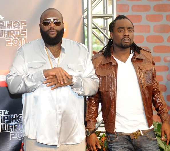 Rick Ross Rick Ross and Wale attend the BET Hip Hop Awards 2011 at the Boisfeuillet Jones Atlanta Civic Center on October 1, 2011 in Atlanta, Georgia.
