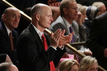 Rick Scott Donald Trump Delivers Address to Joint Session of Congress