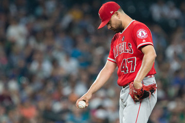 Ricky Nolasco Los Angeles Angels of Anaheim v Seattle Mariners