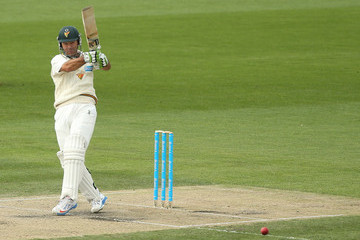 Ricky Ponting Sheffield Shield Final - Tasmania v Queensland: Day 2
