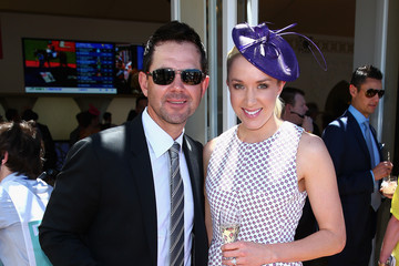 Ricky Ponting Rianna Ponting Celebs Attend Melbourne Cup Day