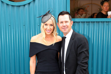 Ricky Ponting Rianna Ponting Celebrities Attend Derby Day
