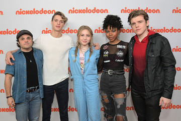 Riele Downs Jace Norman Nickelodeon's Holiday Party With Casts Of 'Cousins For Life' And 'Henry Danger'
