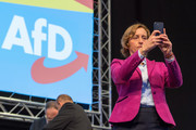 Beatrix Von Storch of the right-wing Alternative for Germany (AfD) political party attends the AfD federal congress on June 30, 2018 in Augsburg, Germany. The AfD is Germany's third-ranked party and rose to power mainly be exploiting popular unease over the wave of large-scale immigration by migrants and asylum seekers in 2015-2016.