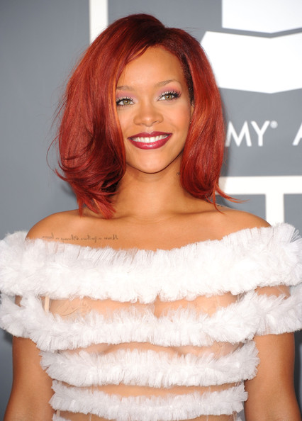 rihanna red hair 2011 what. rihanna red hair 2011 what.