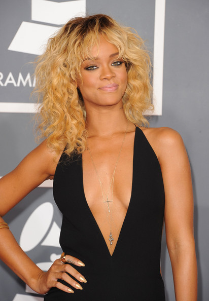 Rihanna Singer Rihanna arrives at the 54th Annual GRAMMY Awards held at Staples Center on February 12, 2012 in Los Angeles, California.