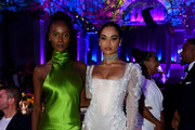 Riley Montana (L) and Shanina Shaik attend Rihanna's 5th Annual Diamond Ball Benefitting The Clara Lionel Foundation at Cipriani Wall Street on September 12, 2019 in New York City.
