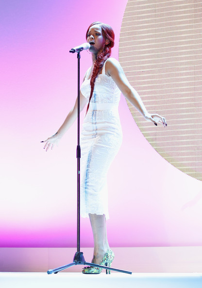 Rihanna Singer Rihanna performs at the Nivea 100th anniversary celebration on May 5, 2011 in Milan, Italy.