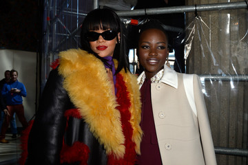 Rihanna Backstage at the Miu Miu Show