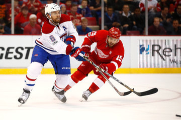 Riley Sheahan Montreal Canadiens v Detroit Red Wings