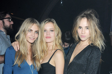 Georgia May Jagger Cara Delevingne Rimmel Party for Kate Moss