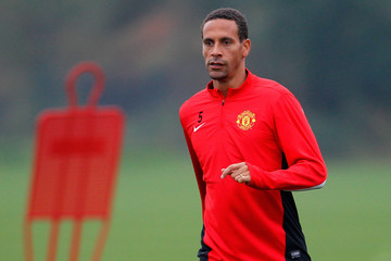 Rio Ferdinand Manchester United Training Session