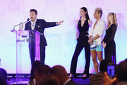 Zeke Smith, Juliet Evancho, Frankie J. Grande and Jackie Evancho attend Rising Stars at the GLAAD Media Awards on May 4, 2018 at the New York Hilton Midtown in New York City.