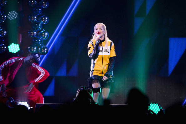 HOT 99.5's Jingle Ball Show [performance,entertainment,performing arts,stage,event,public event,music artist,concert,music,performance art,rita ora,washington d.c.,verizon center,mattress warehouse,jingle ball 2014 - show]