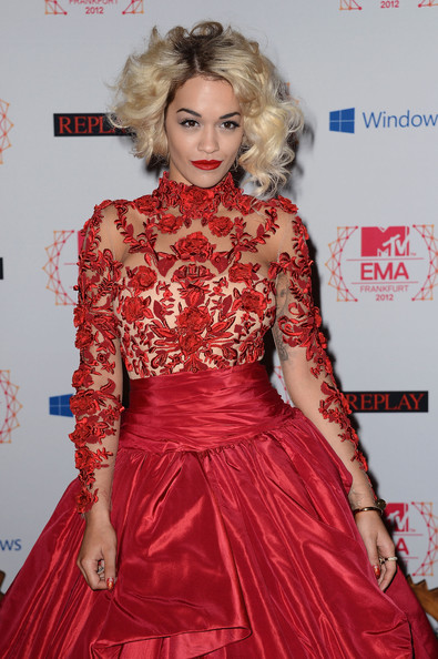 Rita Ora - MTV EMA's 2012 - Red Carpet Arrivals