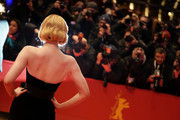 """Elle Fanning poses at the """"The Roads Not Taken"""" premiere during the 70th Berlinale International Film Festival Berlin at Berlinale Palace on February 26, 2020 in Berlin, Germany."""