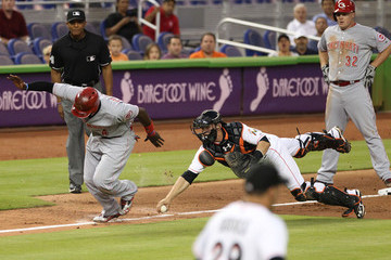 Rob Brantley Cincinnati Reds v Miami Marlins