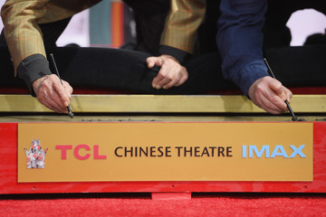 Rob Reiner 2017 TCM Classic Film Festival - Hand and Footprint Ceremony: Carl and Rob Reiner
