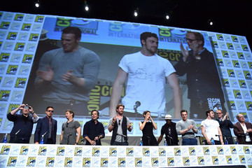 "Robert Downey Jr. Chris Hemsworth Marvel's Hall H Panel For ""Avengers: Age Of Ultron"""