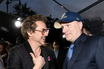 Robert Downey Jr. Kevin Feige Premiere Of Disney And Marvel's 'Avengers: Infinity War' - Red Carpet
