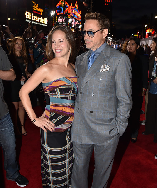 Premiere Of Marvel's 'Avengers: Age Of Ultron' - Red Carpet [avengers: age of ultron,red carpet,premiere,event,carpet,fashion,red carpet,flooring,dress,fashion design,robert downey jr.,susan downey,dolby theatre,california,hollywood,marvel,l,premiere]