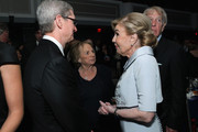 (L-R) Apple CEO Tim Cook, Ethel Kennedy, UNESCO Ambassador Marianna Vardinoyannis, and Evercore Co-founder Roger Altman attend as Robert F. Kennedy Human Rights hosts The 2015 Ripple Of Hope Awards honoring Congressman John Lewis, Apple CEO Tim Cook, Evercore Co-founder Roger Altman, and UNESCO Ambassador Marianna Vardinoyannis at New York Hilton on December 8, 2015 in New York City.
