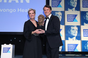 President, Robert F. Kennedy Human Rights Kerry Kennedy presents an award to Glen Tullman.on stage during the Robert F. Kennedy Human Rights Hosts 2019 Ripple Of Hope Gala & Auction In NYC on December 12, 2019 in New York City.
