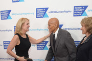 Kerry Kennedy (L) and Harry Belafonte attend Robert F. Kennedy Human Rights Hosts Annual Ripple Of Hope Awards Dinner on December 13, 2017 in New York City.