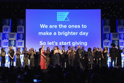 Gloria Reuben, Usher, Alfre Woodard, Gloria Steinem, Nessa and Colin Kaepernick perform onstage during Robert F. Kennedy Human Rights Hosts Annual Ripple Of Hope Awards Dinner on December 13, 2017 in New York City.