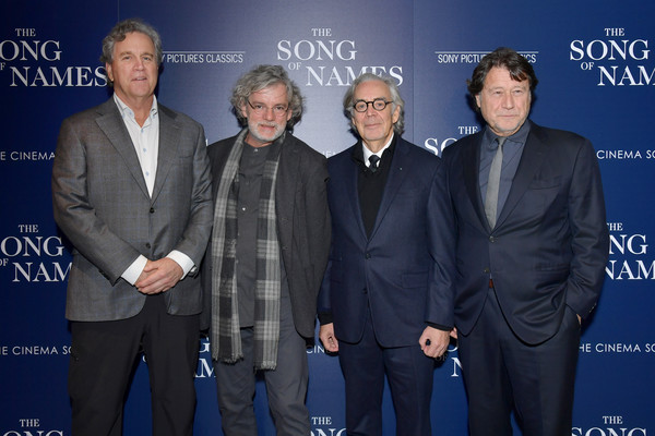 'The Song Of Names' New York Screening [the song of names,event,premiere,suit,white-collar worker,howard shore,tom bernard,francois girard,robert lantos,l-r,new york,sony pictures classics,screening,new york screening]