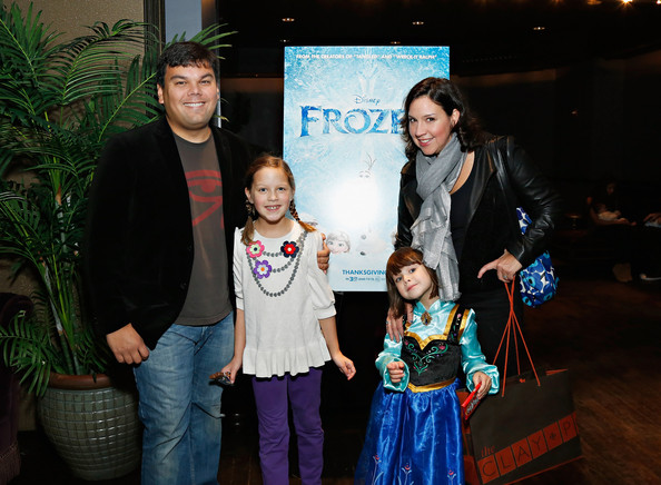 """The Cinema Society Hosts A Special Screening Of Walt Disney Animation Studios' """"Frozen"""" At The Tribeca Grand Hotel In New York [frozen,event,child,fun,party,performance,recreation,leisure,vacation,family,tourism,robert lopez,kristen anderson-lopez,writer,actor,children,tribeca grand hotel,new york,cinema society hosts a special screening of walt disney animation studios,screening]"""