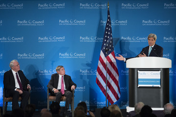 Robert Tuttle Secretary of State John Kerry Speaks at Pacific Council in Los Angeles