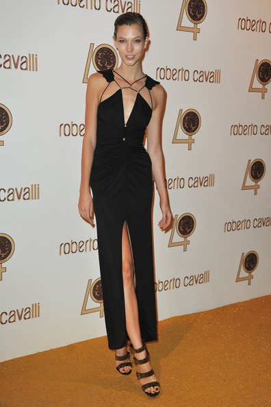 Karlie Kloss attends the Roberto Cavalli party at Les Beaux-Arts de Paris as part of the Paris Fashion Week Ready To Wear S/S 2011 on September 29, 2010 in Paris, France.