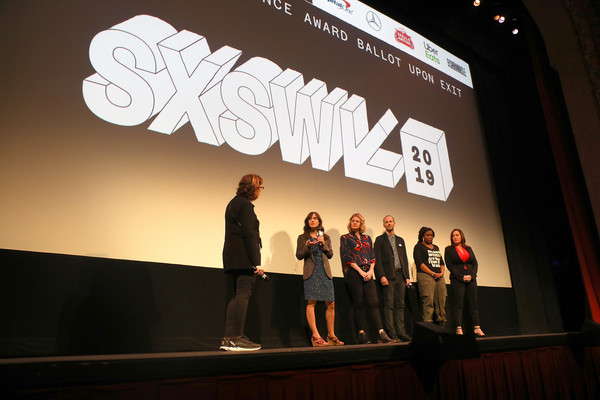 Netflix's 'Knock Down The House' Premiere [text,stage,design,fashion,event,talent show,font,performance,stage equipment,projection screen,rachel lears,robin blotnick,sarah olson,writer,director,producer,knock down the house,l-r,netflix,q a]