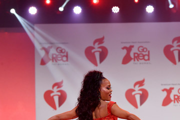 Robin Givens The American Heart Association's Go Red For Women Red Dress Collection 2020 - Runway