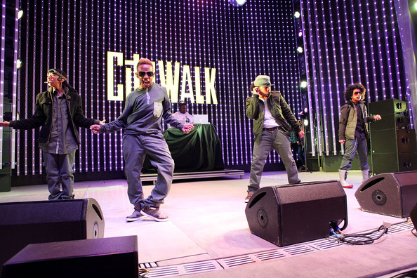 Roc Royal Singers Ray Ray, Prodigy, Roc Royal and Princeton perform duringthe celebration for Mindless Behavior's #1 Girl album release with an in-store signing and performance at Universal CityWalk on September 22, 2011 in Universal City, California.