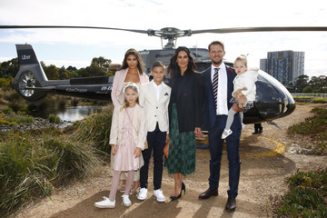 Rocco Rama-Ellis Frankie Rama-Ellis Celebrities Arrive With Uber At Seppelt Wines Stakes Day