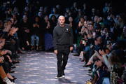 Designer Alessandro Dell'Acqua acknowledges the applause of the public after the Rochas show as part of the Paris Fashion Week Womenswear Fall/Winter 2016/2017 on March 2, 2016 in Paris, France.